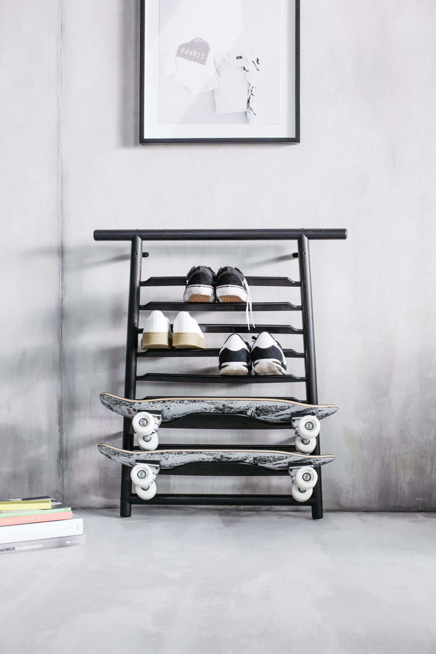 Ikea Spanst Skateboard and Shoe Rack Our