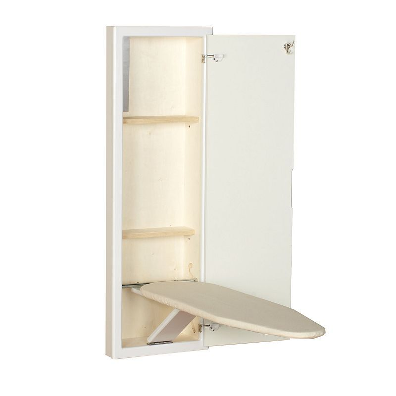 Stowaway Wall Mounted Ironing Board Cabinet In 2020 Wall Ironing Board Wall Mounted Ironing Board Ironing Board Cabinet