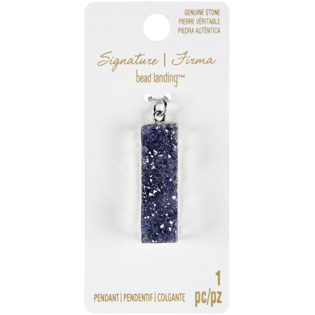 Signature color shop purple druzy bar pendant by bead landing buy the signature color shop purple druzy bar pendant by bead landing at michaels mozeypictures Image collections
