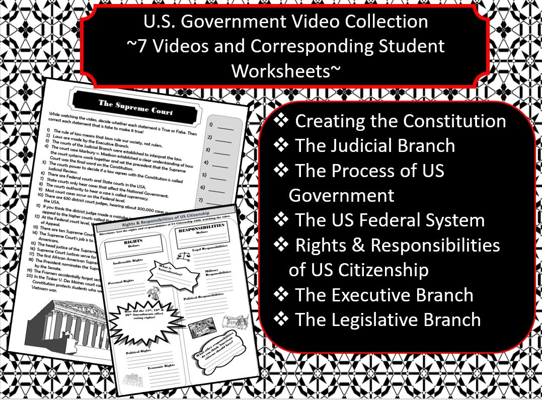 U S Government 7 Videos Amp Corresponding Student