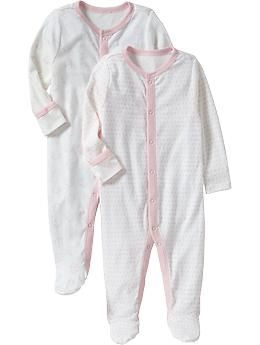 69f33d075a0e Little Bundles Footed One-Piece 2-Packs for Baby