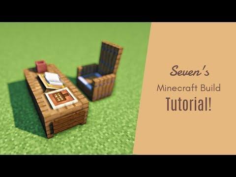 マインクラフト家具 実際に本が置ける机の作り方 建築講座 Youtube