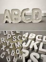 Bilderesultat for como hacer letras de cemento