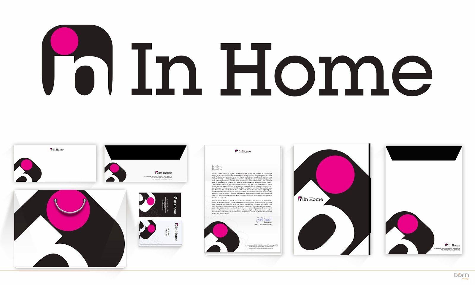 In Home E A Mais Nova Loja De Utensilios Domesticos Do Shopping Platinum Outlet Em Novo Hamburgo Rs Sua Programacao P Identidade Identidade Visual Tipografia