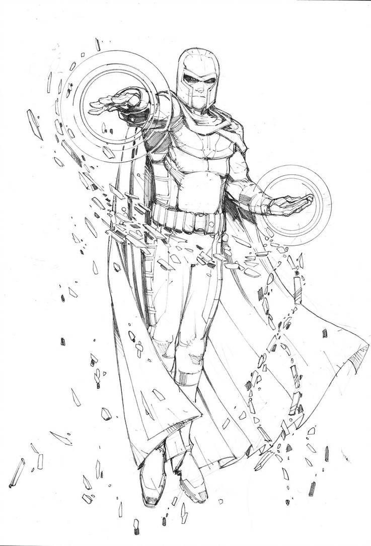 Magneto Sketch By Max Dunbar Desenhos Para Colorir Vingadores
