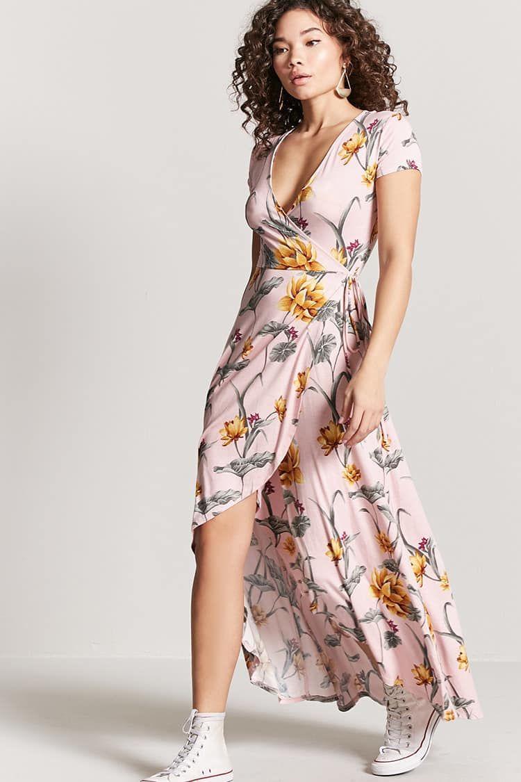 Vestido largo flores mujer