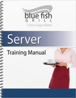 restaurant employee training manual sample cover template