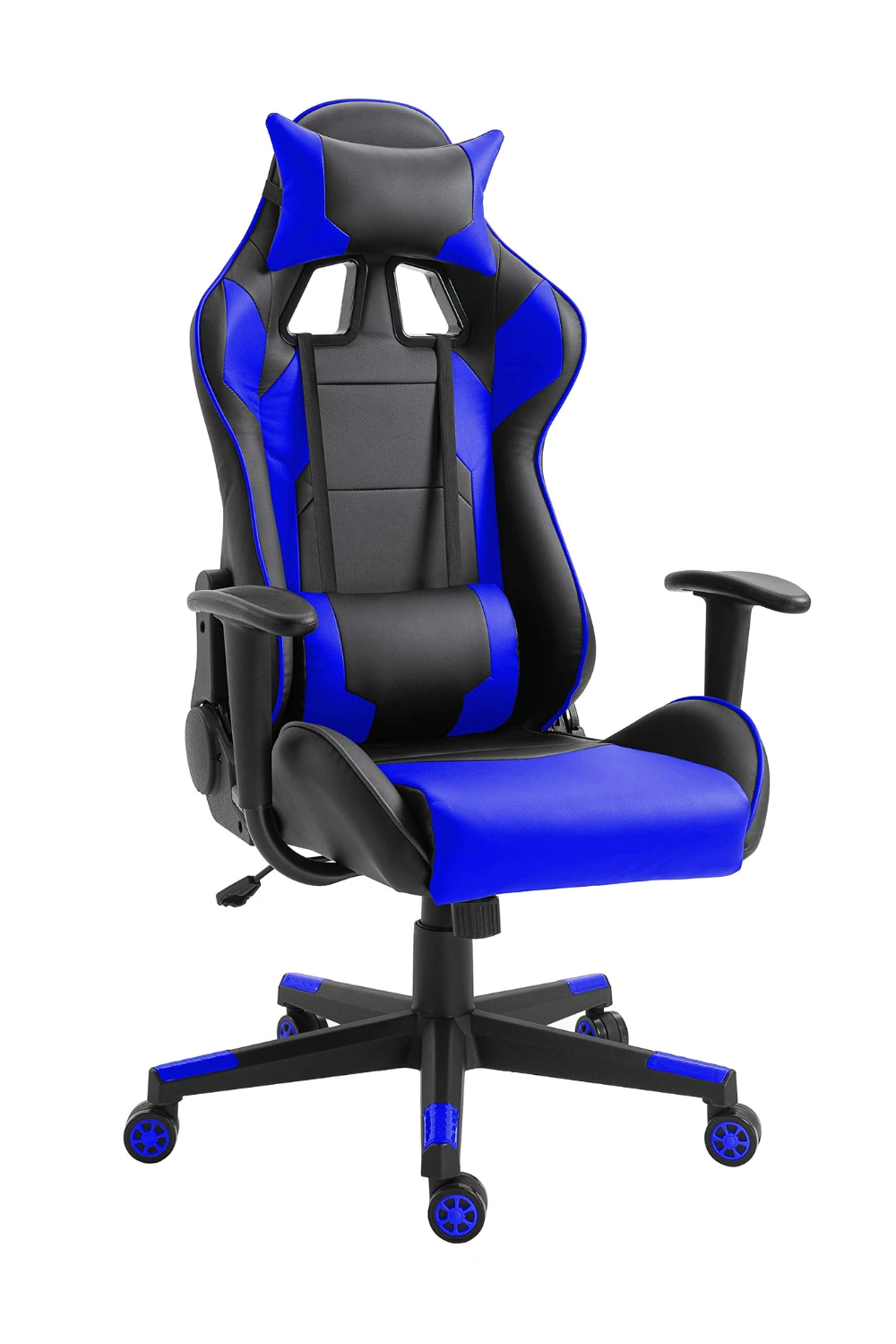 Mahmayi C599 Blue Gaming Chair High Back Computer Chair Pu Leather Des Kimia Living In 2020 Gaming Chair Computer Chair Leather Desk