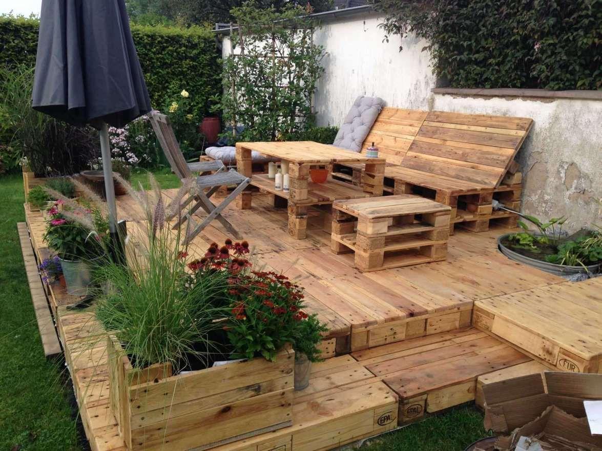 16 Holzpodest Garten Kaufen Selber Bauen Garten Terrasse Aus Paletten Sitzecken Garten