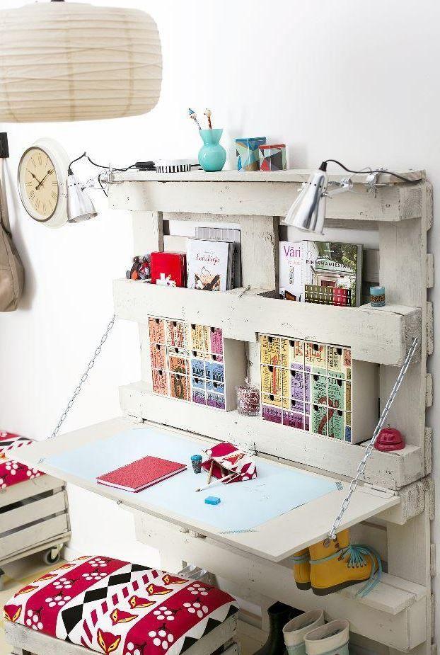 Craft Storage Ideas   Inspire. Organize. Create.   Craft Room Storage:  Unique Solutions U2013 Pallet Wall Unit U0026 Desk | Pinterest | Craft Room Storage,  ...