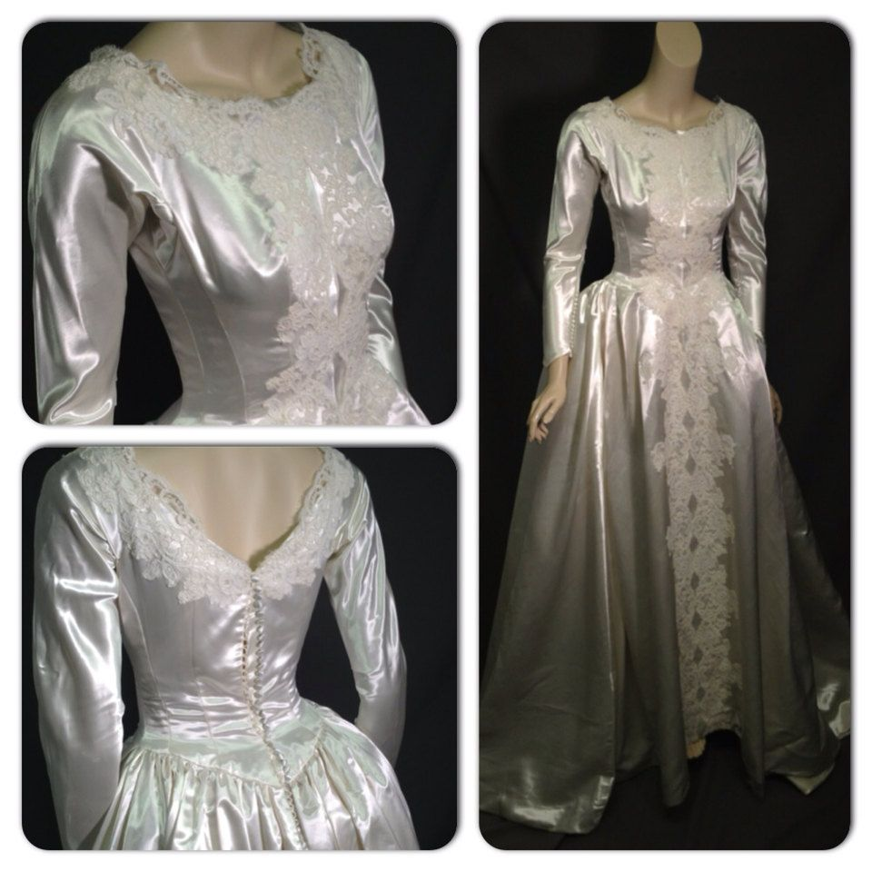Priscilla of boston wedding dresses  Satin elegance Vintage us Priscilla of Boston  Vintage Style