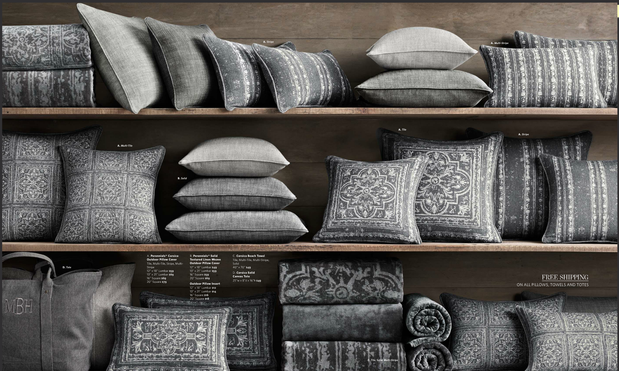 Outdoor Pillows By Restoration Hardware
