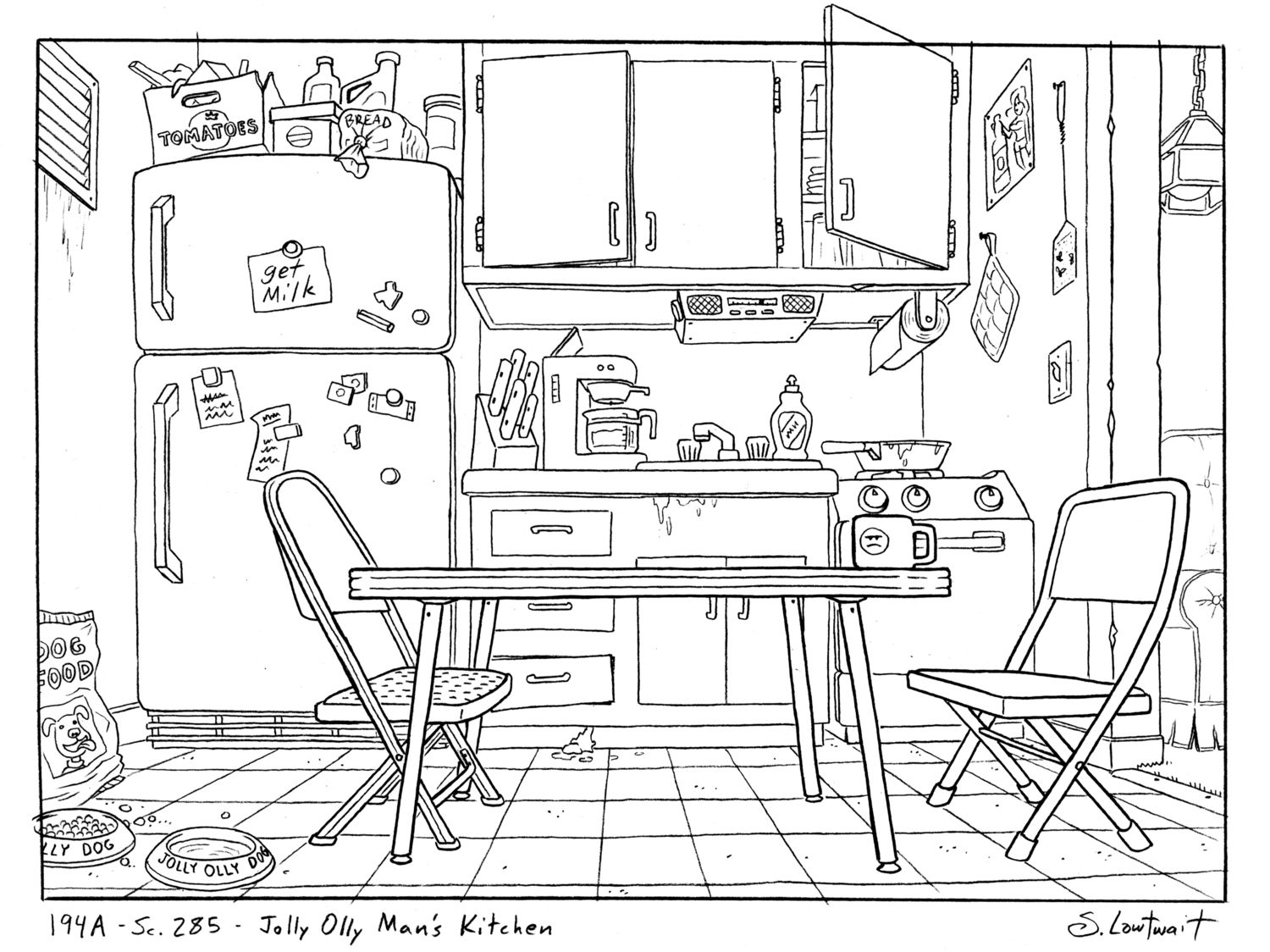 Colouring pages kitchen - The Ice Cream Man S Kitchen Is How I Imagined A Low Income 20 Something Adult Coloring Pagescoloring