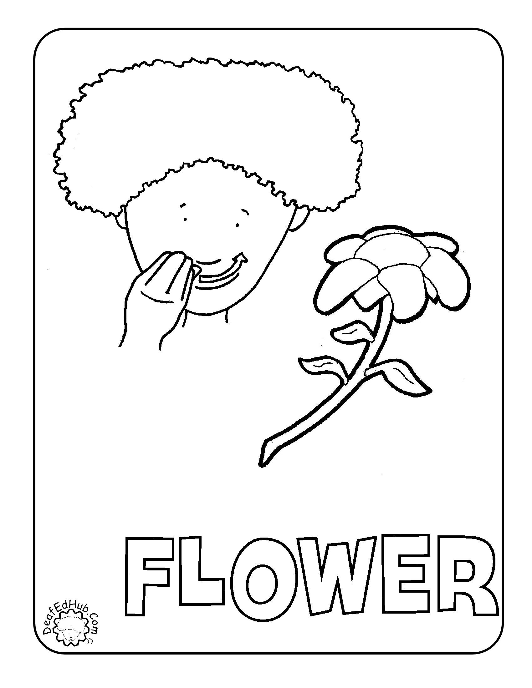Flower Coloring Asl We Have A Few New Coloring Pages Up Now Last Count I Have 45 Coloring Pages