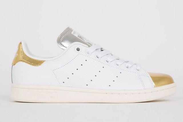 adidas stan smith silver and gold