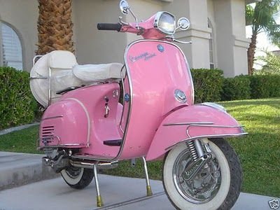 vespa scooter posse pinterest m res filles couleur rose et roses. Black Bedroom Furniture Sets. Home Design Ideas