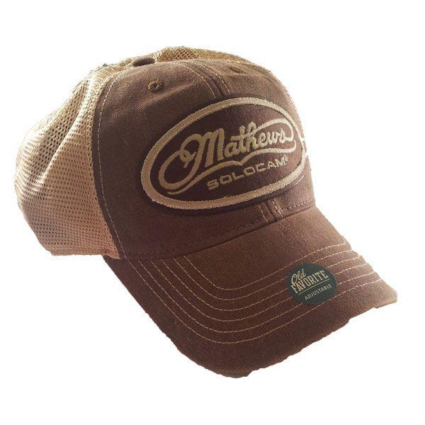 online retailer 7d257 1ec51 Mathews Brown Trucker Hat Oval Logo