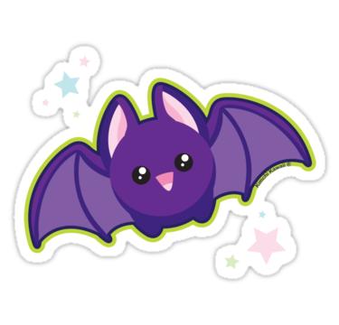Bat kawaii. Sticker in planner obsessed