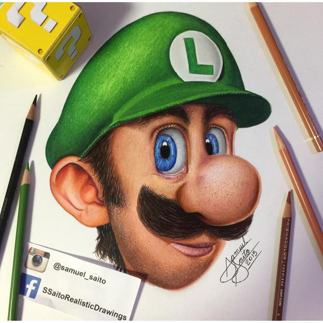 Realistic Luigi Finally #supermario #arts #