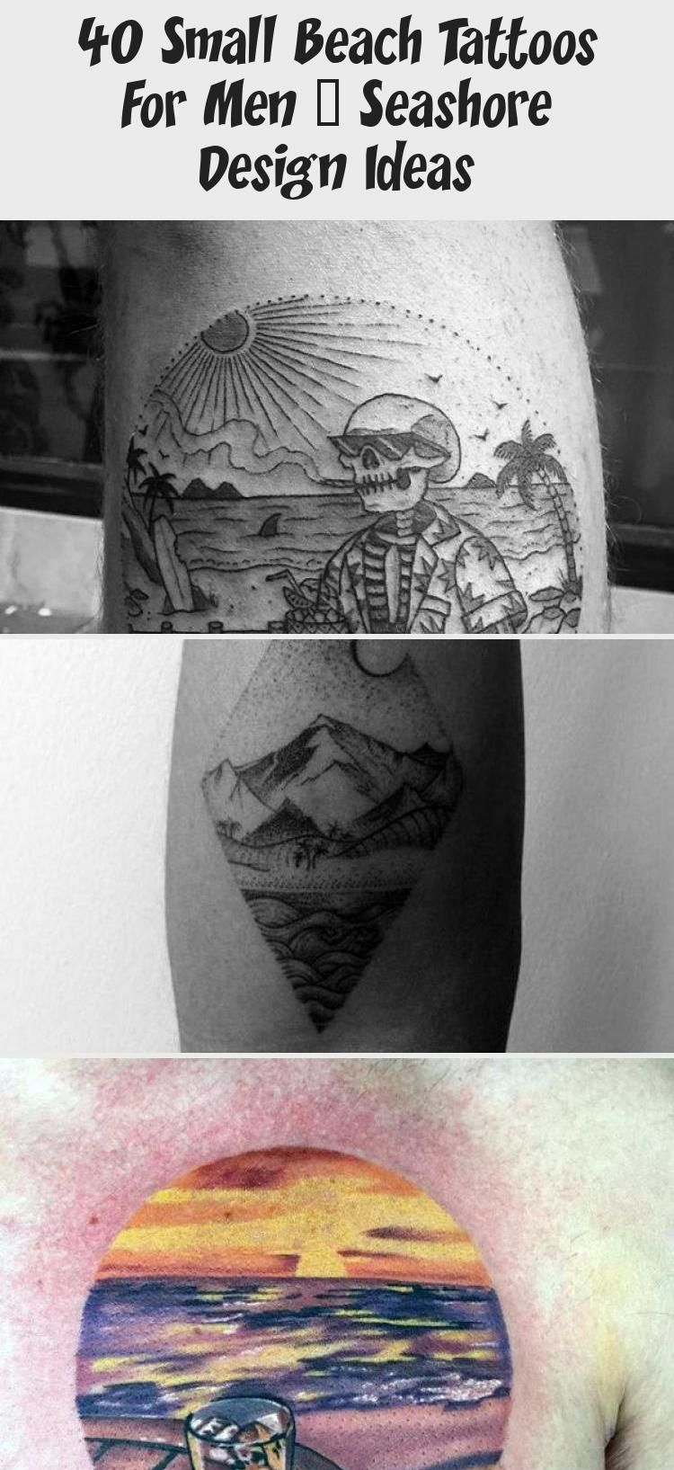 Photo of Nature Landscapes Mountains With Beach Mens Small Thigh Tattoo #AbstractGeometri…