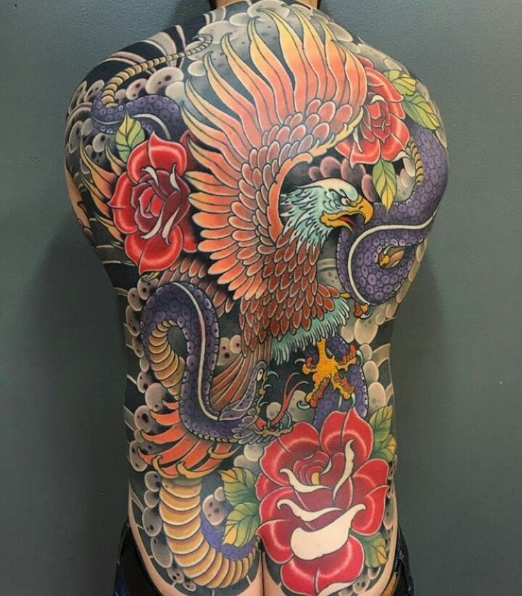 Men S Tattoo Color Back Piece Tattoos For Guys Japanese Back Tattoo Japanese Tattoo Art