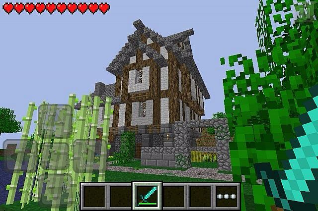 Cool House On The Hill Minecraft Projects Minecraft Houses Survival Minecraft Pocket Edition