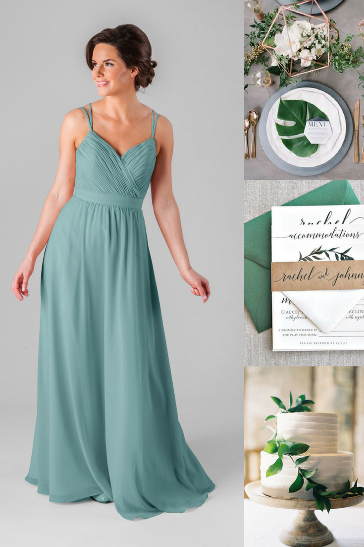 Flattering bridesmaid dresses wedding greenery green weddings
