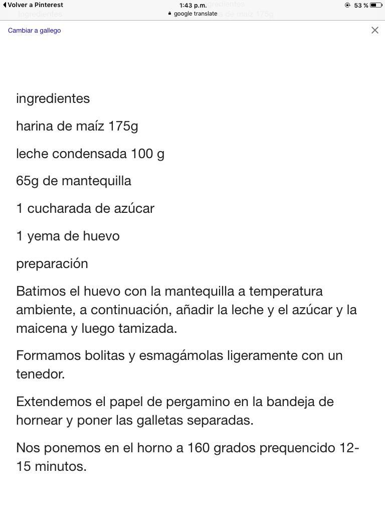 Galletas de maizena