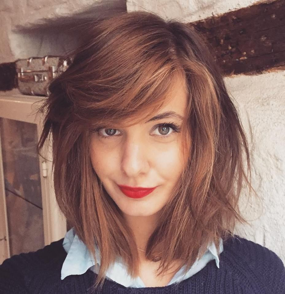 37 cute medium haircuts to fuel your imagination   side part