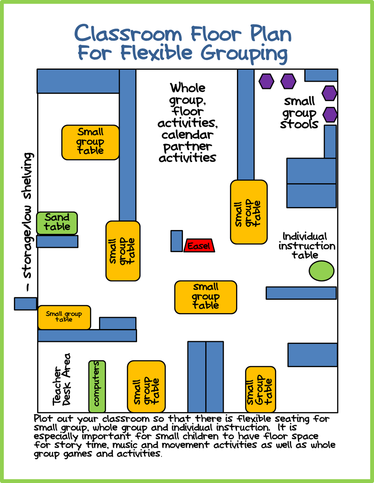 Classroom Layout For A Small Kindergarten Room A Differentiated