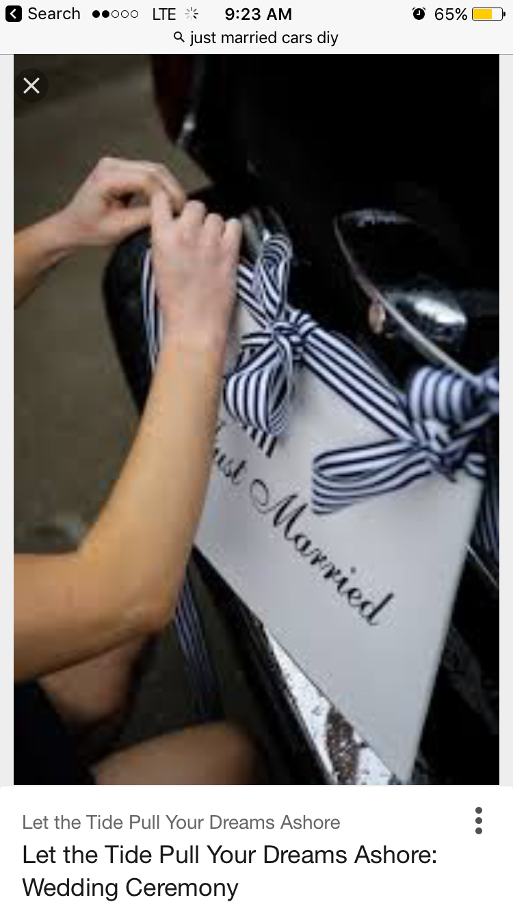 Wedding car decoration ideas  Pin by Jasmine Barroga on Just Married Car decoration ideas  Pinterest