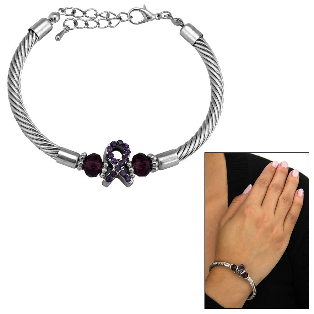 Alzheimer S Awareness Cable Bracelet Alzheimers Donation Sites Aging Gracefully Retail Therapy