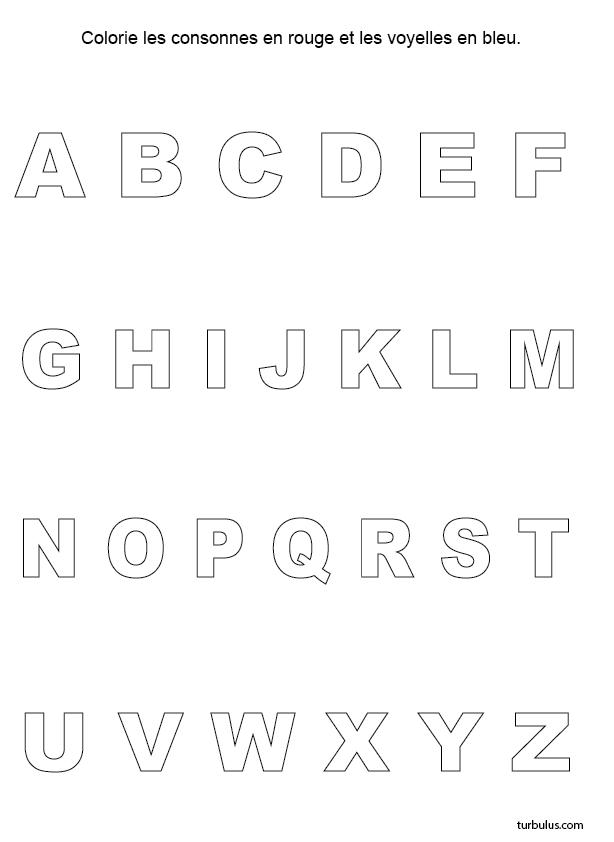 Exceptionnel Exercice ludique, colorier et consonnes et les voyelles | ecole  WF84