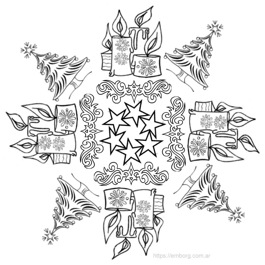 mandala-de-navidad-para-imprimir | ekka | Pinterest | Mandalas de ...