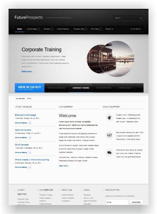 Joomla Landing Page Template Business Blog Promotion Best - Joomla landing page template