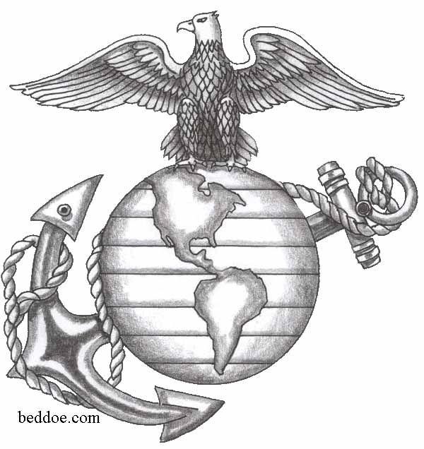 Usmc Tattoo Ega Stencil Eagle Globe Anchor Line Art Tattoos
