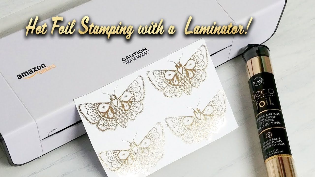 Easy Diy Hot Foil Stamping With A Laminator And Laser Printer Youtube Hot Foil Stamping Foil Stamping Foil Stamping Design