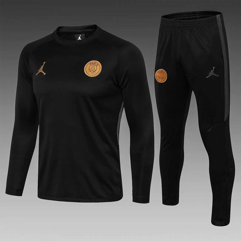 finest selection f8449 57e38 PSG 18/19 Jordan Black(Golden Logo) Men Tracksuit Slim Fit ...