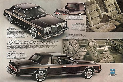 1980 Chrysler Lebaron Fifth Avenue Limited Edition And Chrysler