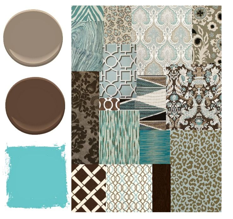 blue, brown, and aqua color palette - places in the home | diy