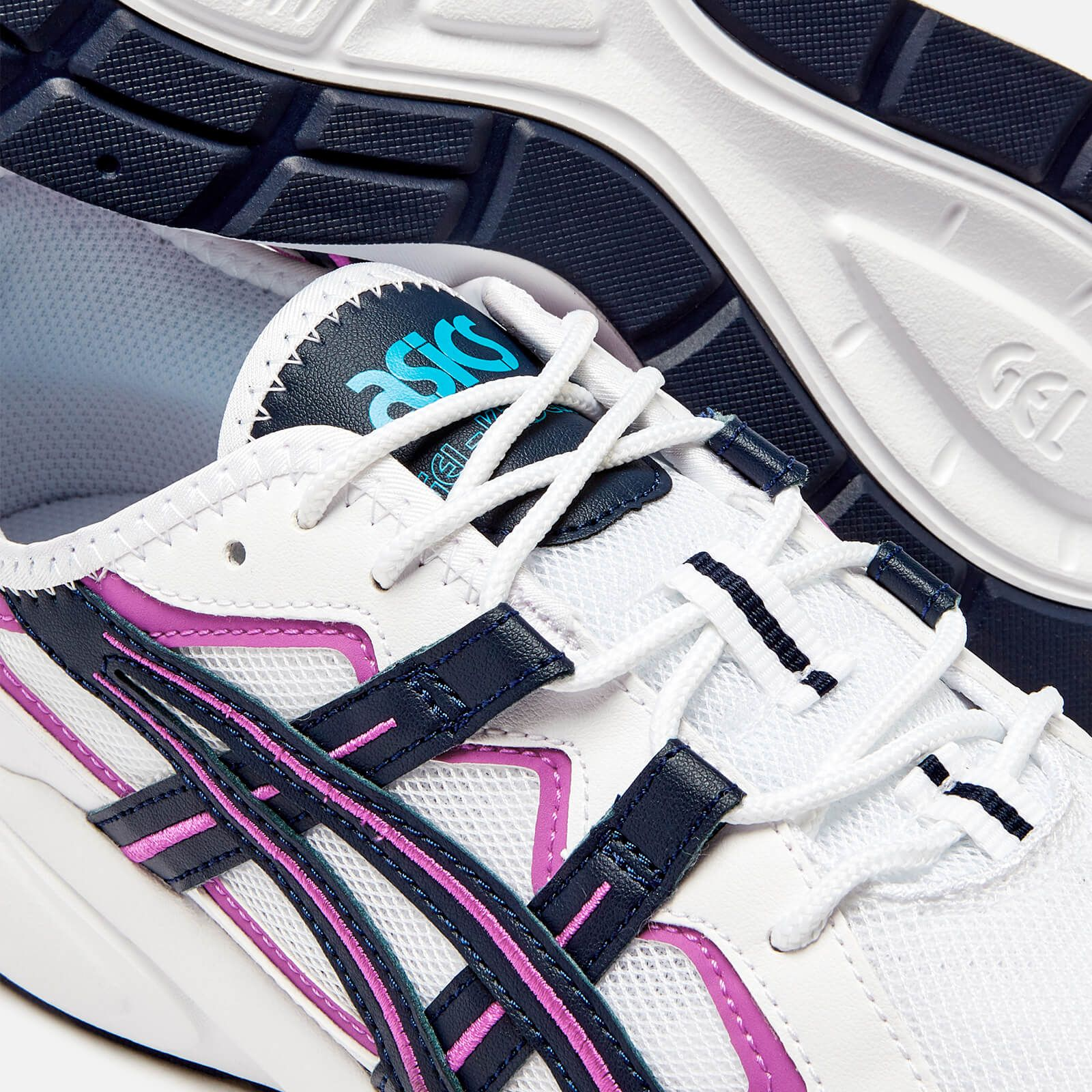 Asics Men S Lifestyle Gel Kayano 5 1 Trainers White Midnight In