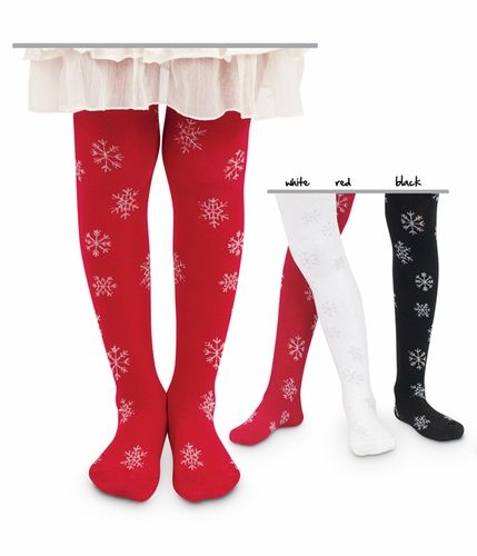 jefferies baby and childrens snowflake tights 6 18m 8 yrs