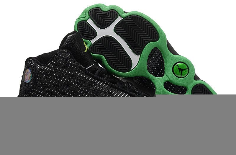 Authentic green black shoe nike air jordan retro 13 xiii for no tax online