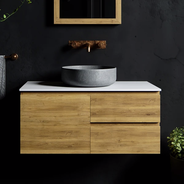 Rifco Wentworth Timber Vanity Solid Surface Top Above Counter Basin In 2020 Vanity Design Timber Vanity Counter Design