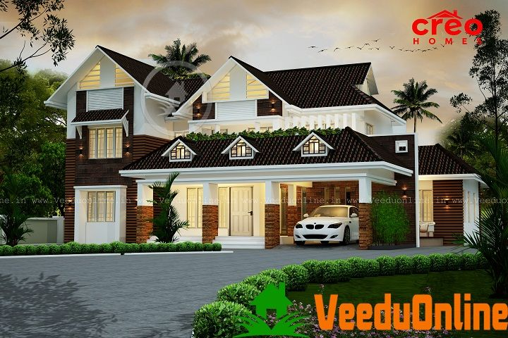 2927 Sq Ft Contemporary Double Floor Home Designs