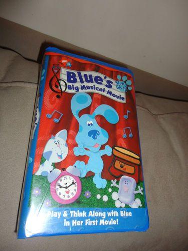 f3d5b815f7 Nick Jr. Blue's Big Musical Movie Blue's clues VHS Movie find me at www .dandeepop.com