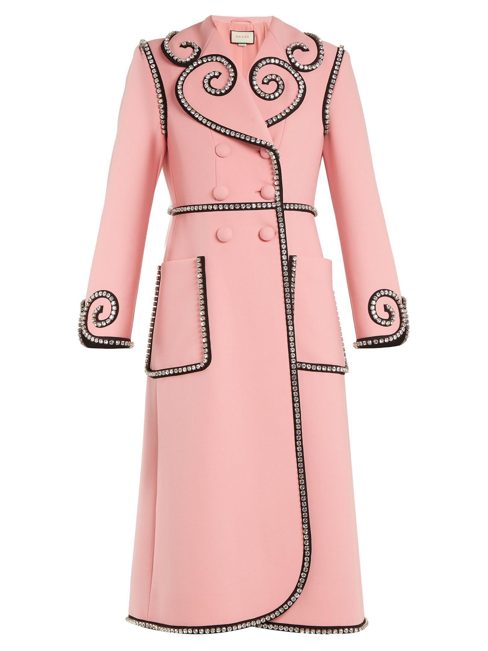 3f91b368dabf GUCCI . #gucci #cloth # | Gucci in 2019 | Pink wool coat, Red wool ...