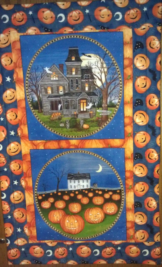 HALLOWEEN WALLHANGING 18 x 29 by BevsBestQuilts on Etsy, $30.00