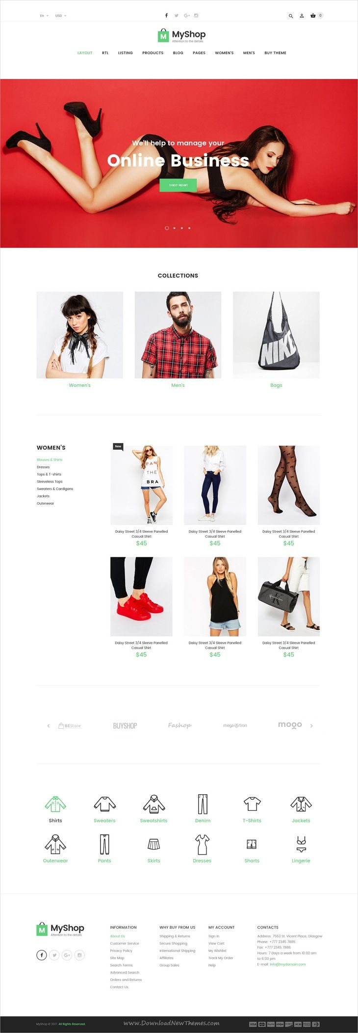 MyShop is clean and stylish #PSD template for stunning #fashion store eCommerce website with 18+ layered PSD files download now➩ https://themeforest.net/item/myshop-premium-ecommerce-psd-template/19750377?ref=Datasata