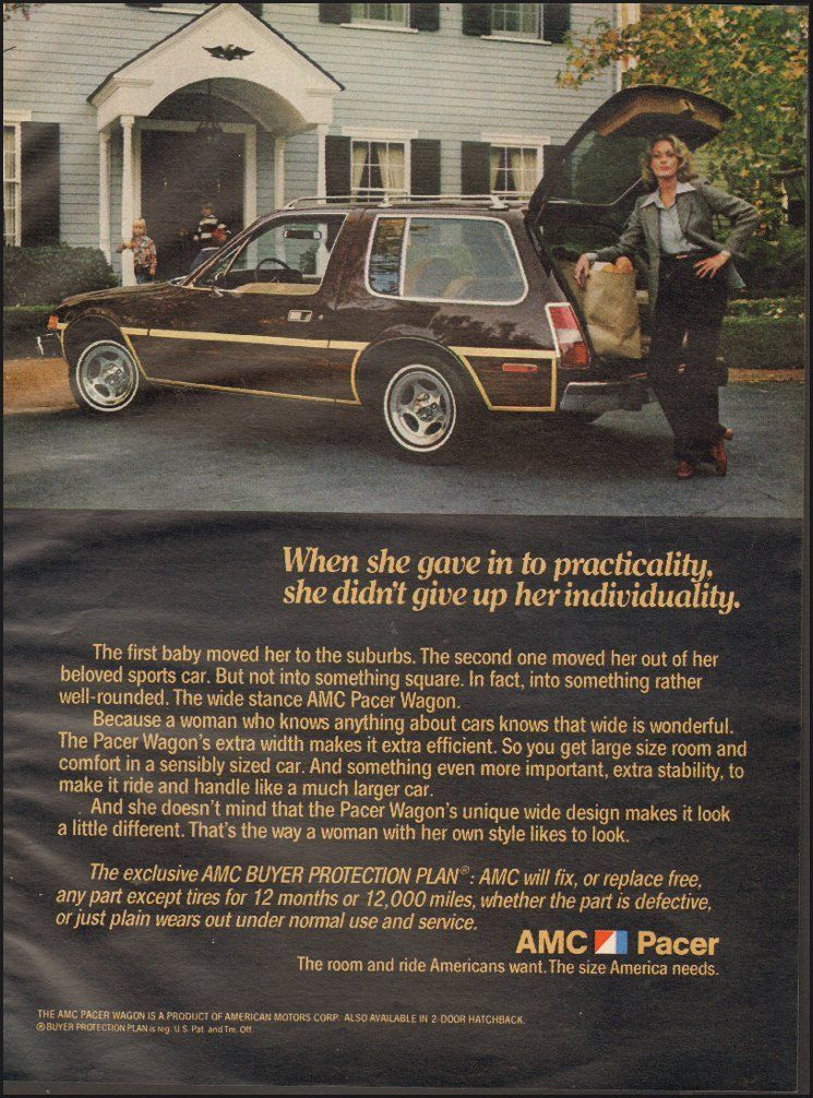 1978 Print ad for AMC Pacer`Brown Hatchback retro car Photo ...